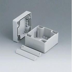 C2008082 / ROBUST-BOX ANCHURA 80, Vers. II - PC (UL 94 HB) - light grey RAL 7035 - 80x80x60mm - IP 66