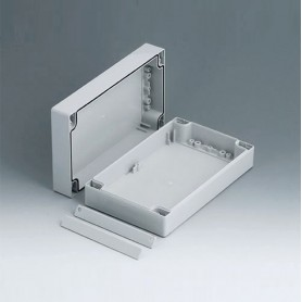 C2012201 / ROBUST-BOX ANCHURA 120, Vers. I - ABS (UL 94 HB) - light grey RAL 7035 - 200x120x60mm - IP 66