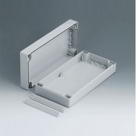 C2012241 / ROBUST-BOX ANCHURA 120, Vers. I - ABS (UL 94 HB) - light grey RAL 7035 - 240x120x60mm - IP 66