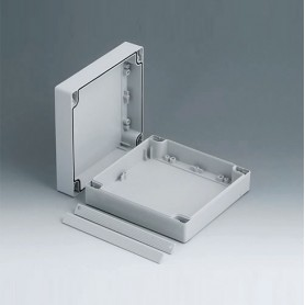C2016161 / ROBUST-BOX ANCHURA 160, Vers. I - ABS (UL 94 HB) - light grey RAL 7035 - 160x160x60mm - IP 66