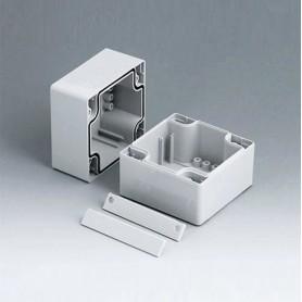 C2108081 / ROBUST-BOX ANCHURA 80, Vers. I - ABS (UL 94 HB) - light grey RAL 7035 - 80x80x80mm - IP 66