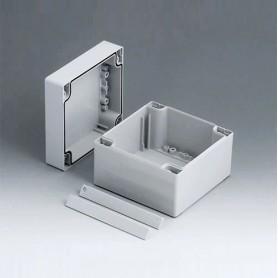 C2112121 / ROBUST-BOX ANCHURA 120, Vers. I - ABS (UL 94 HB) - light grey RAL 7035 - 120x120x90mm - IP 66