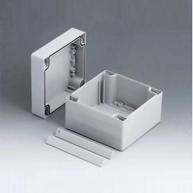 C2112122 / ROBUST-BOX ANCHURA 120, Vers. II - PC (UL 94 HB) - light grey RAL 7035 - 120x120x90mm - IP 66