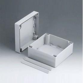 C2116161 / ROBUST-BOX ANCHURA 160, Vers. I - ABS (UL 94 HB) - light grey RAL 7035 - 160x160x90mm - IP 66