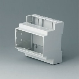 B6704101 / RAILTEC C, 5 módulos, Vers. I - PC (UL 94 V-0) - light grey - 88x90x58mm
