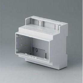B6704105 / RAILTEC C, 5 módulos, Vers. III - PC (UL 94 V-0) - light grey - 88x90x58mm