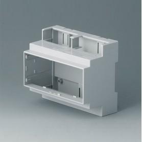 B6705101 / RAILTEC C, 6 módulos, Vers. I - PC (UL 94 V-0) - light grey - 106x90x58mm