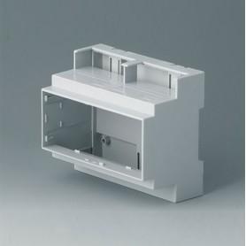 B6705105 / RAILTEC C, 6 módulos, Vers. III - PC (UL 94 V-0) - light grey - 106x90x58mm