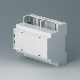 B6705107 / RAILTEC C, 6 módulos, Vers. IV - PC (UL 94 V-0) - light grey - 106x90x58mm