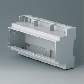 B6706105 / RAILTEC C, 9 módulos, Vers. III - PC (UL 94 V-0) - light grey - 160x90x58mm