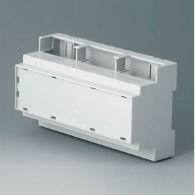 B6706107 / RAILTEC C, 9 módulos, Vers. IV - PC (UL 94 V-0) - light grey - 160x90x58mm