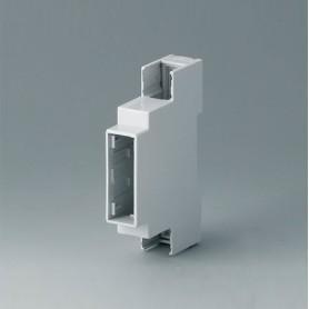 B6700100 / RAILTEC C, 1 módulos, Vers. I - PC (UL 94 V-0) - light grey - 17,5x90x58mm