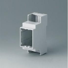 B6701100 / RAILTEC C, 2 módulos, Vers. I - PC (UL 94 V-0) - light grey - 36x90x58mm