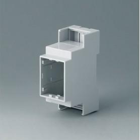 B6701104 / RAILTEC C, 2 módulos, Vers. III - PC (UL 94 V-0) - light grey - 36x90x58mm