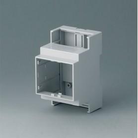 B6702100 / RAILTEC C, 3 módulos, Vers. I - PC (UL 94 V-0) - light grey - 53x90x58mm