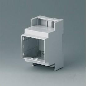 B6702104 / RAILTEC C, 3 módulos, Vers. III - PC (UL 94 V-0) - light grey - 53x90x58mm