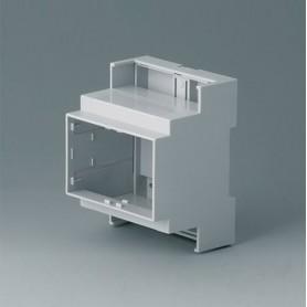 B6703104 / RAILTEC C, 4 módulos, Vers. III - PC (UL 94 V-0) - light grey - 71x90x58mm