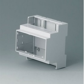 B6704100 / RAILTEC C, 5 módulos, Vers. I - PC (UL 94 V-0) - light grey - 88x90x58mm