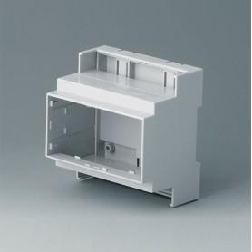 B6704104 / RAILTEC C, 5 módulos, Vers. III - PC (UL 94 V-0) - light grey - 88x90x58mm