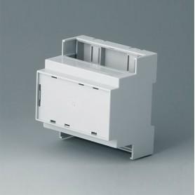B6704106 / RAILTEC C, 5 módulos, Vers. IV - PC (UL 94 V-0) - light grey - 88x90x58mm