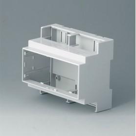 B6705100 / RAILTEC C, 6 módulos, Vers. I - PC (UL 94 V-0) - light grey - 106x90x58mm