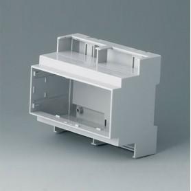 B6705104 / RAILTEC C, 6 módulos, Vers. III - PC (UL 94 V-0) - light grey - 106x90x58mm