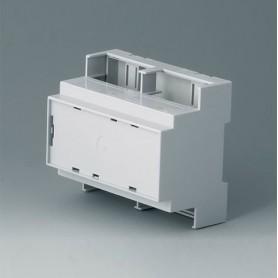 B6705106 / RAILTEC C, 6 módulos, Vers. IV - PC (UL 94 V-0) - light grey - 106x90x58mm