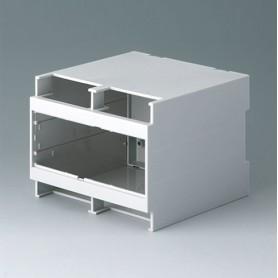 B6705700 / RAILTEC C, 6 módulos, Alto - PC (UL 94 V-0) - light grey - 107x90x114mm
