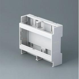 B6705800 / RAILTEC C, 6 módulos, plano, Vers. I - PC (UL 94 V-0) - light grey - 106,2x90x32mm