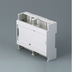 B6705806 / RAILTEC C, 6 módulos, plano, Vers. IV - PC (UL 94 V-0) - light grey - 106,2x90x32mm