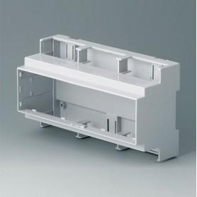 B6706100 / RAILTEC C, 9 módulos, Vers. I - PC (UL 94 V-0) - light grey - 160x90x58mm