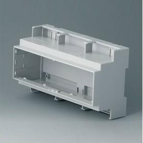 B6706104 / RAILTEC C, 9 módulos, Vers. III - PC (UL 94 V-0) - light grey - 160x90x58mm