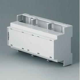 B6706106 / RAILTEC C, 9 módulos, Vers. IV - PC (UL 94 V-0) - light grey - 160x90x58mm