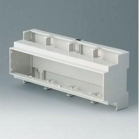 B6707100 / RAILTEC C, 12 módulos, Vers. I - PC (UL 94 V-0) - light grey - 210x90x58mm