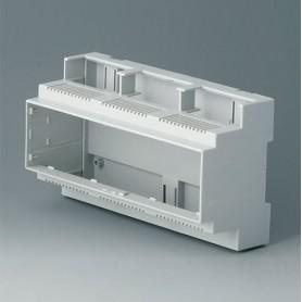 B6706103 / RAILTEC C, 9 módulos, Vers. II - PC (UL 94 V-0) - light grey - 160x90x58mm