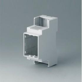 B6701102 / RAILTEC C, 2 módulos, Vers. II - PC (UL 94 V-0) - light grey - 36x90x58mm
