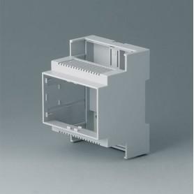 B6703102 / RAILTEC C, 4 módulos, Vers. II - PC (UL 94 V-0) - light grey - 71x90x58mm