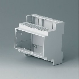 B6704102 / RAILTEC C, 5 módulos, Vers. II - PC (UL 94 V-0) - light grey - 88x90x58mm