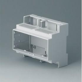 B6705102 / RAILTEC C, 6 módulos, Vers. II - PC (UL 94 V-0) - light grey - 106x90x58mm