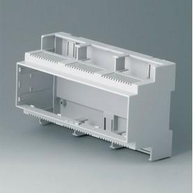 B6706102 / RAILTEC C, 9 módulos, Vers. II - PC (UL 94 V-0) - light grey - 160x90x58mm