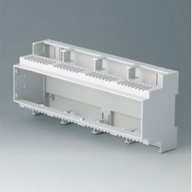 B6707102 / RAILTEC C, 12 módulos, Vers. II - PC (UL 94 V-0) - light grey - 210x90x58mm