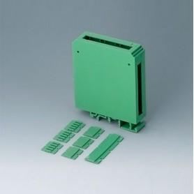 B6721521 / RAILTEC CB ANCHURA 22.5 - PA 6 (UL 94 V-0) - green - 22,5x82x90mm