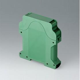 B6721721 / RAILTEC CV ANCHURA 22.5, sin ranuras de ventilación - PA 6 (UL 94 V-0) - green - 22,5x112x99mm