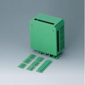 B6722521 / RAILTEC CB ANCHURA 45.5 - PA 6 (UL 94 V-0) - green - 45,5x82x90mm