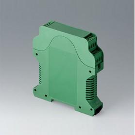 B6721723 / RAILTEC CV ANCHURA 22.5, con ranuras de ventilación - PA 6 (UL 94 V-0) - green - 22,5x112x99mm