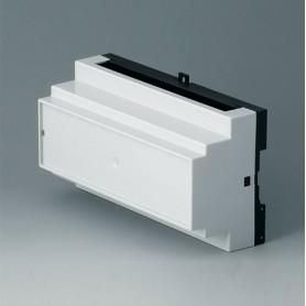B6505112 / RAILTEC B, 9 módulos, Vers. II - PC (UL 94 V-0) - light grey RAL 7035 - 157x86x59mm