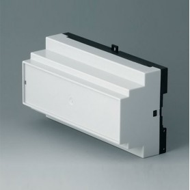B6505113 / RAILTEC B, 9 módulos, Vers. III - PC (UL 94 V-0) - light grey RAL 7035 - 157x86x59mm