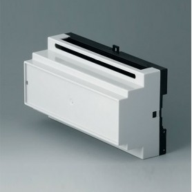 B6505117 / RAILTEC B, 9 módulos, Vers. IV - PC (UL 94 V-0) - light grey RAL 7035 - 157x86x59mm