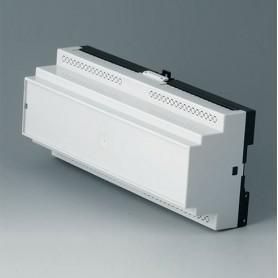 B6506110 / RAILTEC B, 12 módulos, Vers. V - PC (UL 94 V-0) - light grey RAL 7035 - 210x90x58mm
