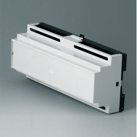 B6506111 / RAILTEC B, 12 módulos, Vers. I - PC (UL 94 V-0) - light grey RAL 7035 - 210x90x58mm